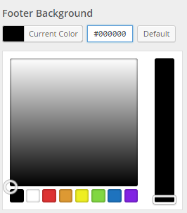 Custom Footer Background Color