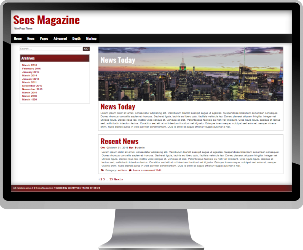 Wordpress Seos Magazine Theme