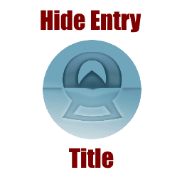 Hide Entry Title WordPress Plugin