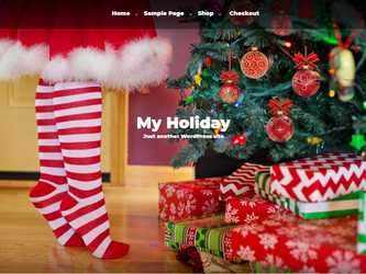 Free WordPress My Holiday Theme