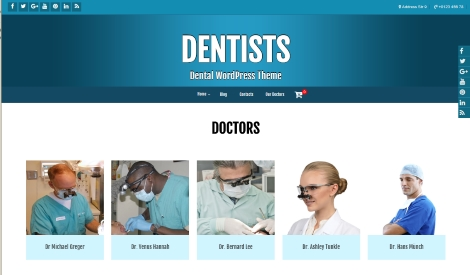 Free WordPress Dentists Theme