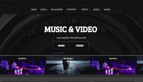 Music and Video WordPress Theme